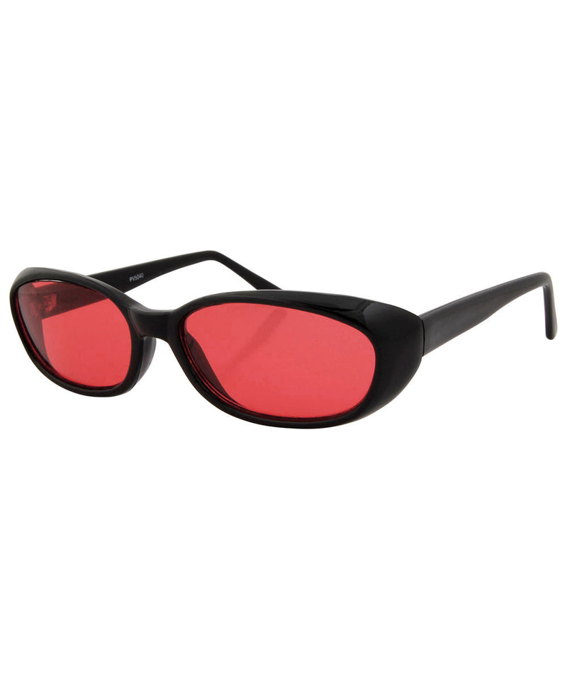 jujube black red sunglasses