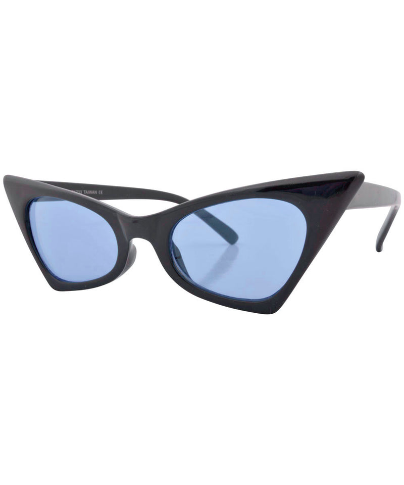 KADILLAC Black/Blue Cat-Eye Sunglasses