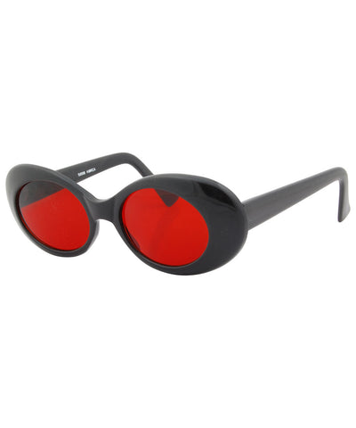 kels black red sunglasses