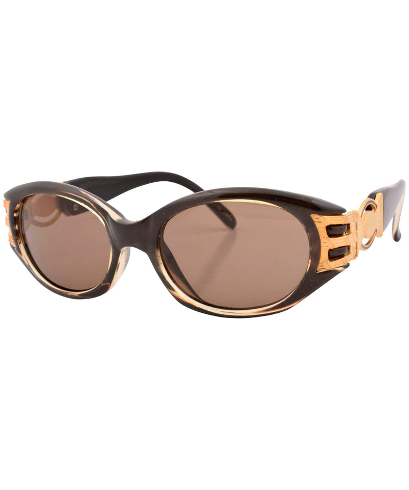kimlan crystal brown sunglasses
