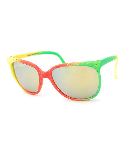 kingston yellow orange green sunglasses