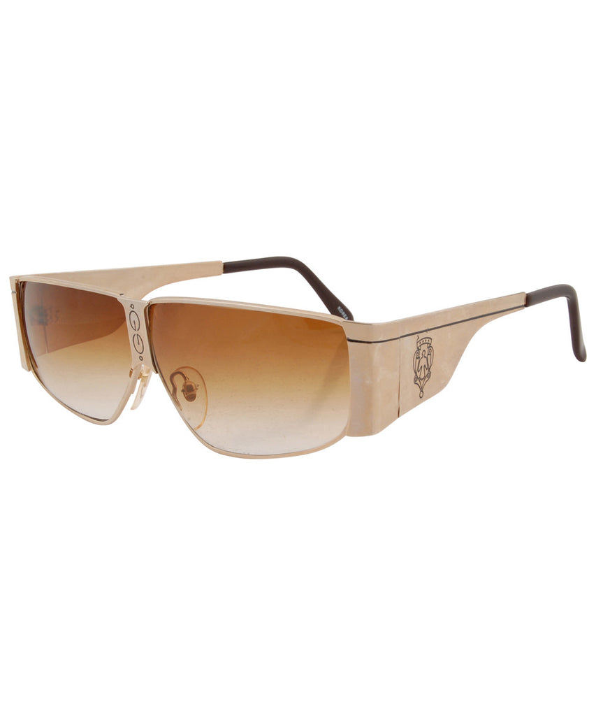 king charles gold amber sunglasses