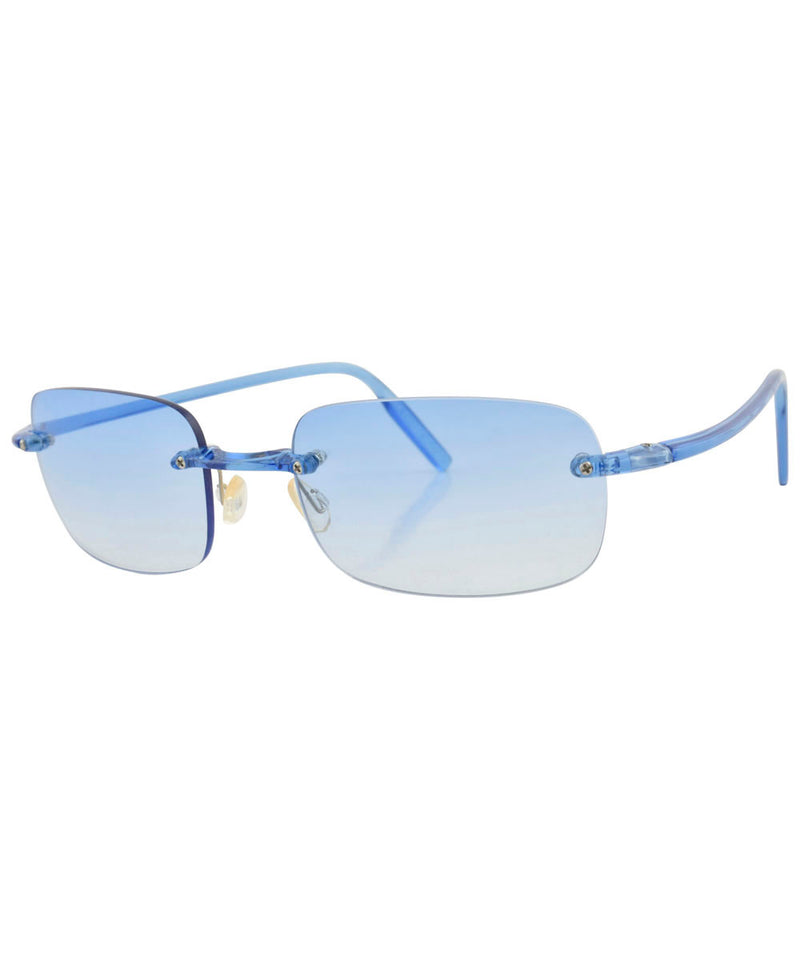 TAFFY Blue Rimless Sunglasses