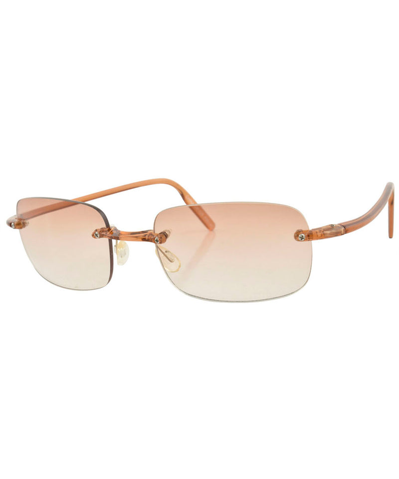 TAFFY Brown Rimless Sunglasses