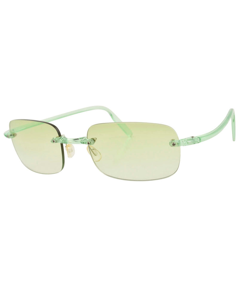 TAFFY Green Rimless Sunglasses
