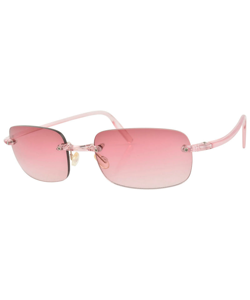 TAFFY Pink Rimless Sunglasses