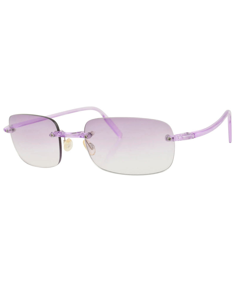 TAFFY Purple Rimless Sunglasses