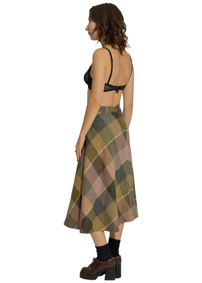 Knoxy Plaid Knit Skirt