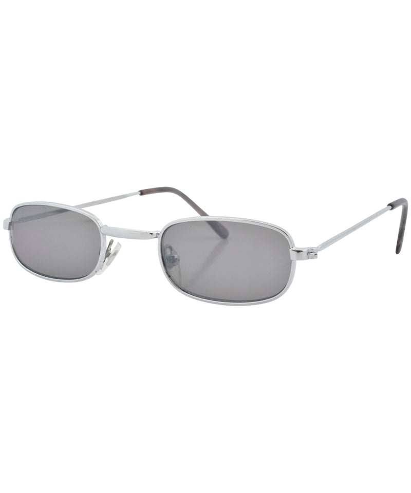 laddy silver smoke sunglasses