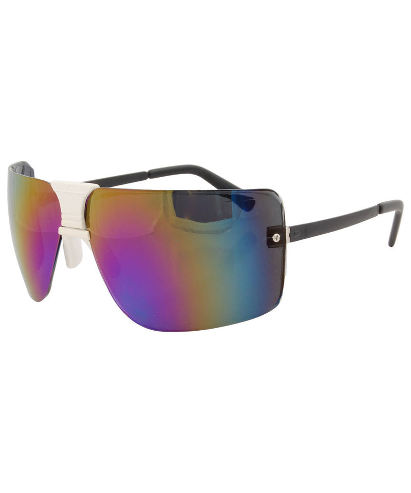 la woman white rainbow sunglasses