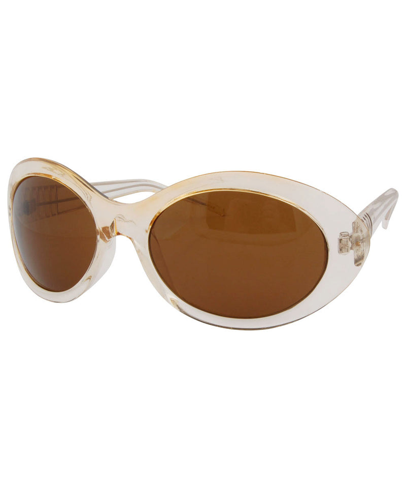 level crystal brown sunglasses