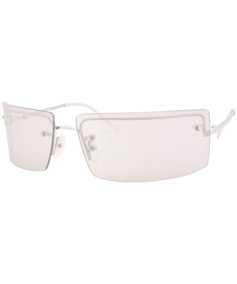 le vrai silver flash sunglasses