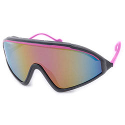 the lip black pink sunglasses