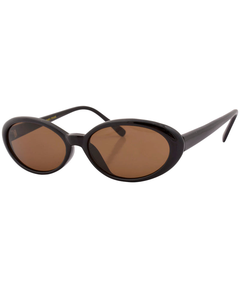 loopy black brown sunglasses