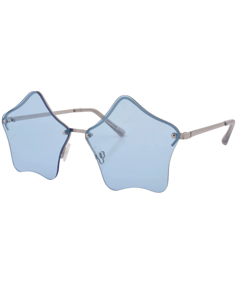 luminous blue sunglasses