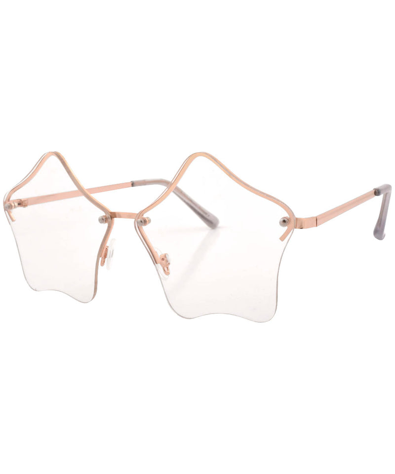 luminous gold clear sunglasses