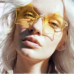 luminous yellow copper sunglasses