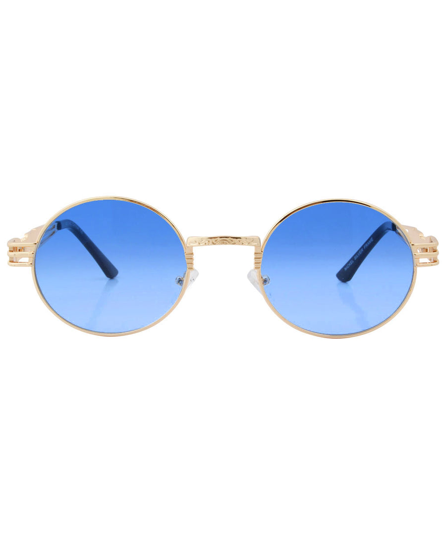 luvah blue gold sunglasses