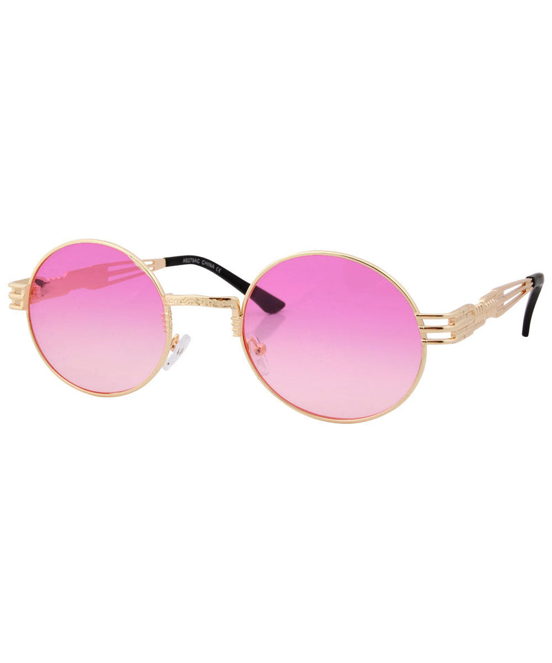luvah pink gold sunglasses
