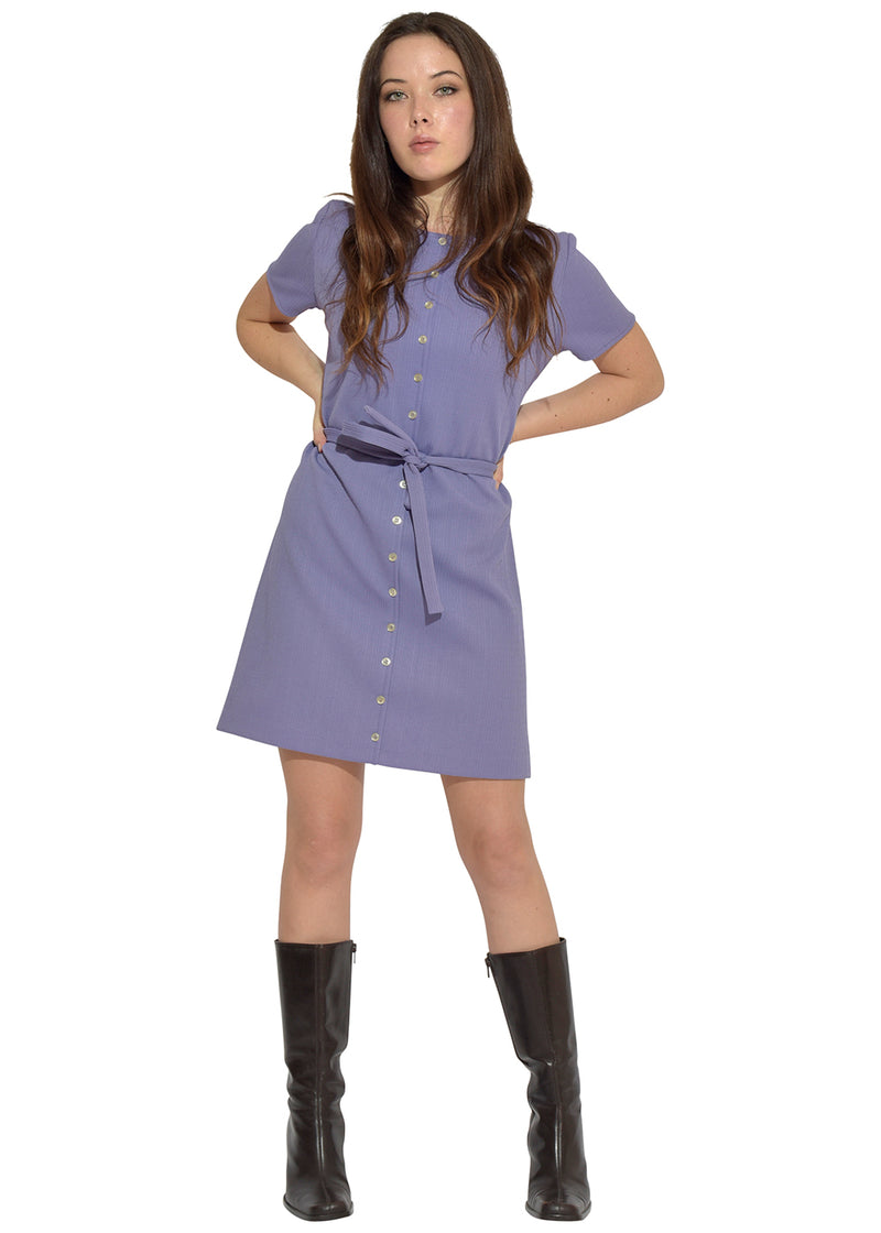 Lavender Doll Button Up Dress