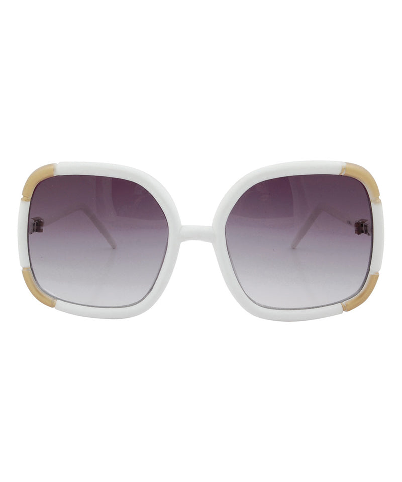 macaroni white sunglasses