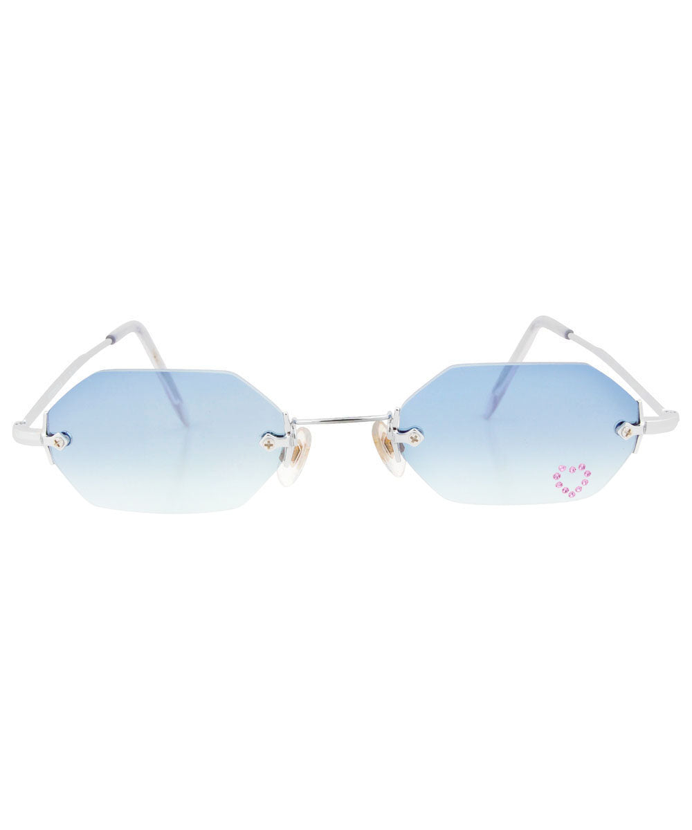 MARY KATE Blue/Pink Rimless Sunglasses