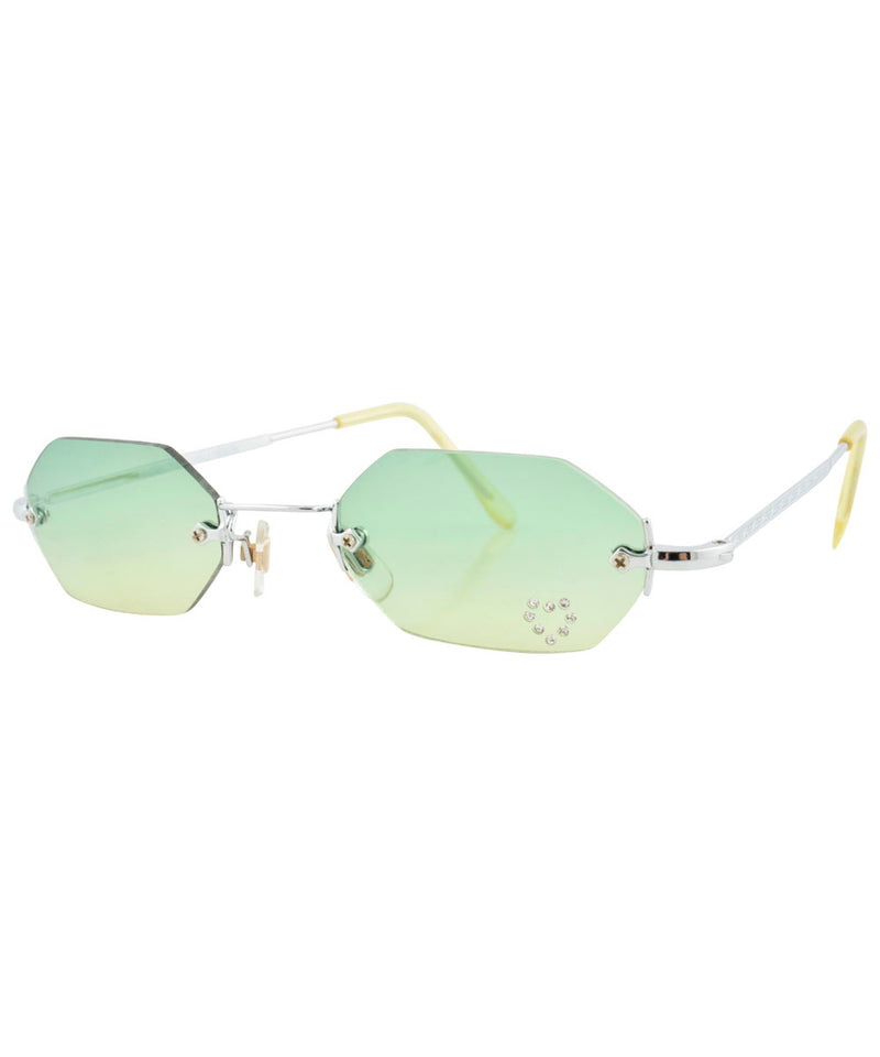 mary kate green yellow sunglasses