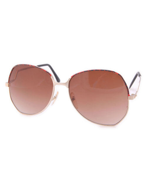 merz gold red sunglasses
