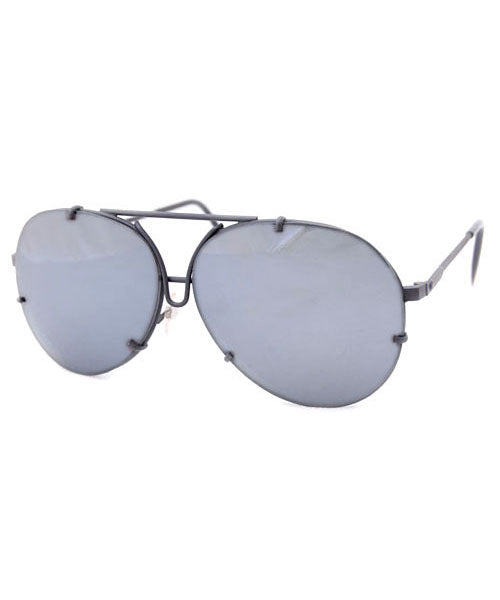 mileage black mirrored sunglasses