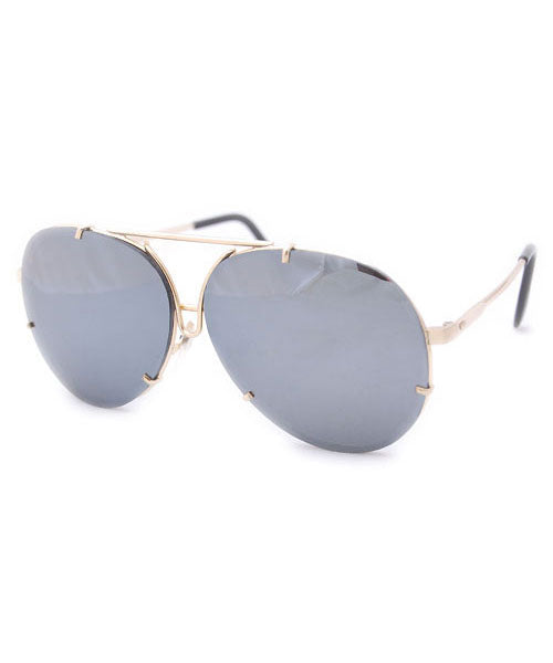 mileage gold mirrored sunglasses