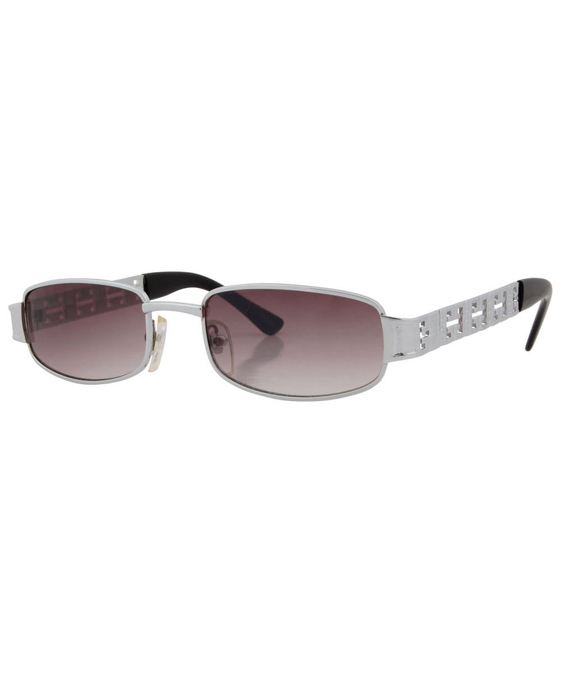 MONEY Silver Square Sunglasses