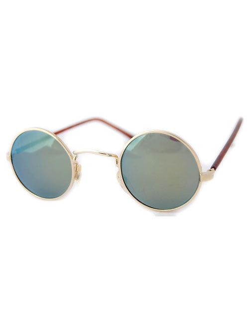 moon gold green sunglasses