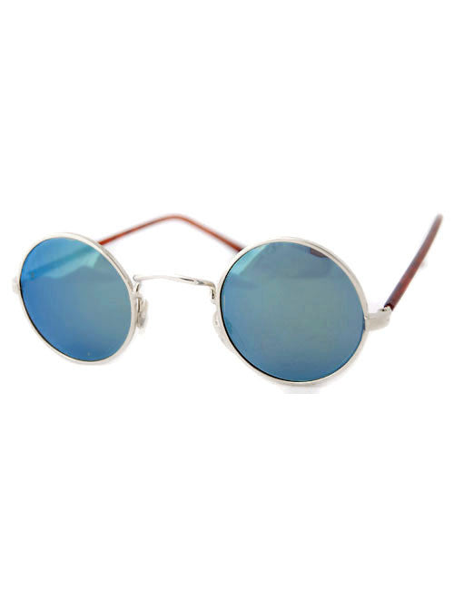 moon silver aqua sunglasses