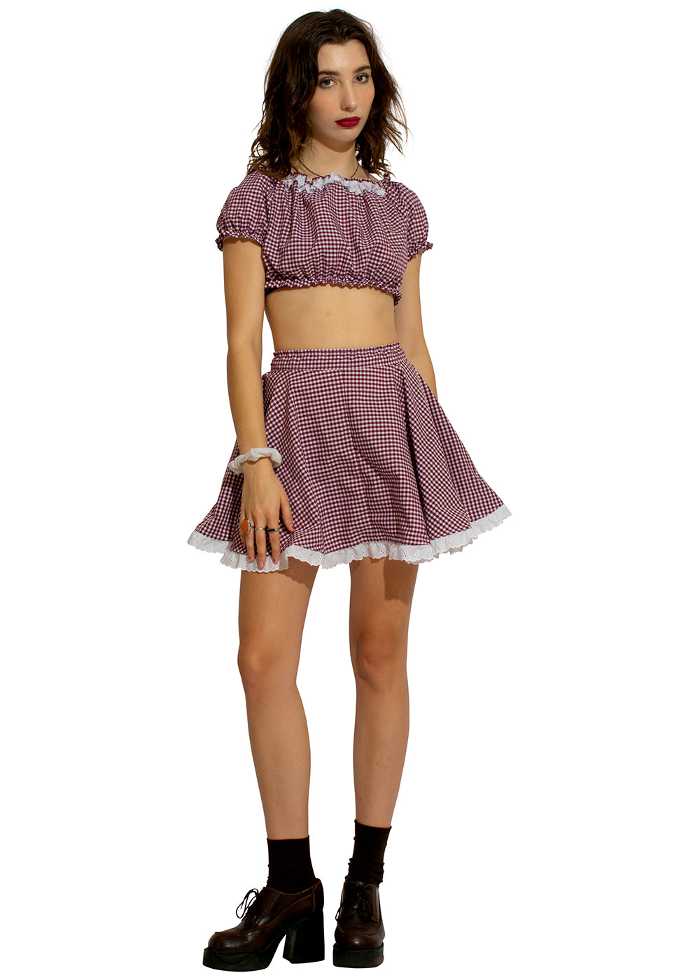 Miss Plaid Prairie Two Piece