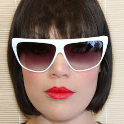 nagel white sunglasses