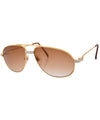 narcos gold brown sunglasses