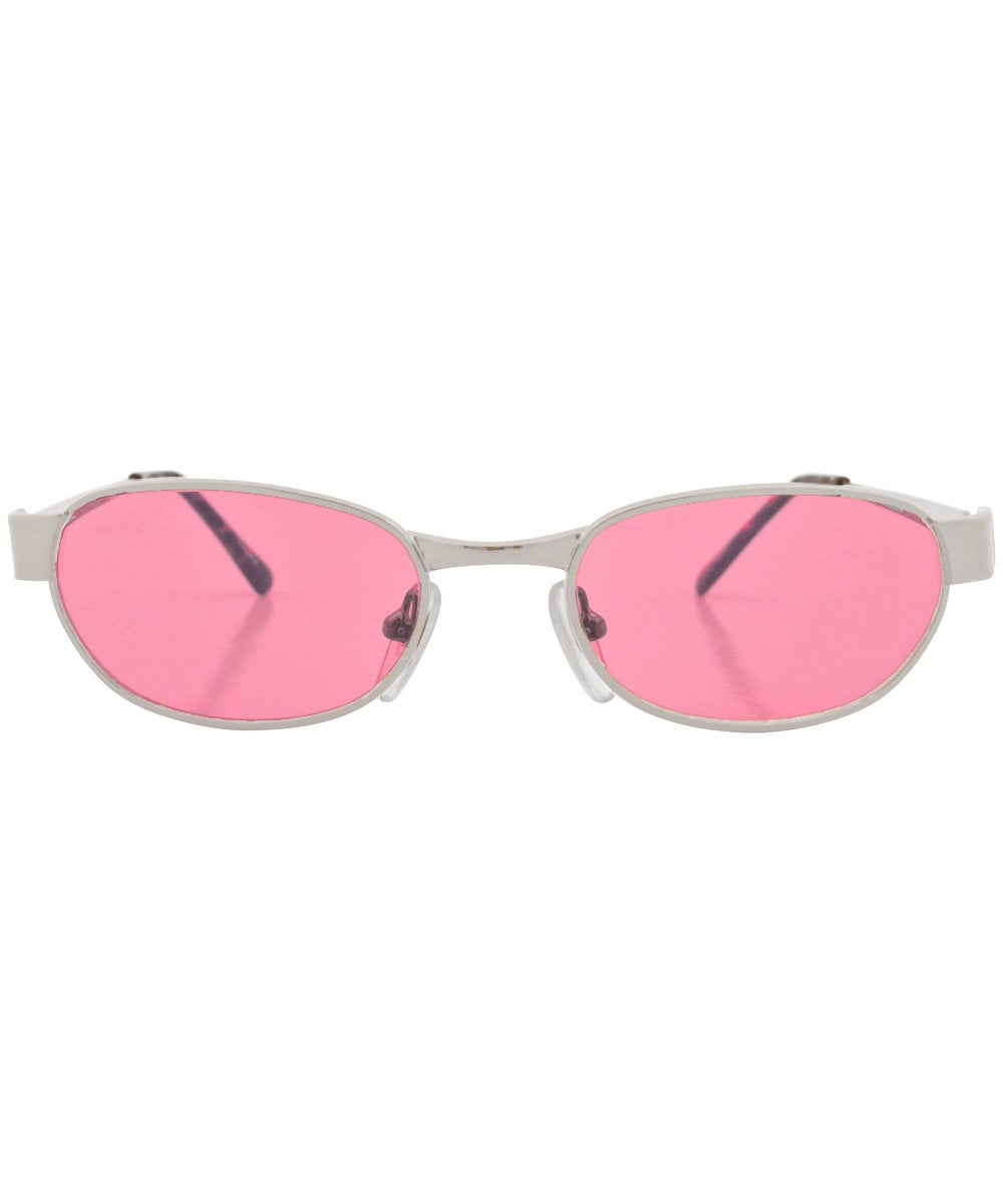 N.Y. NEWS Pink Square Sunglasses