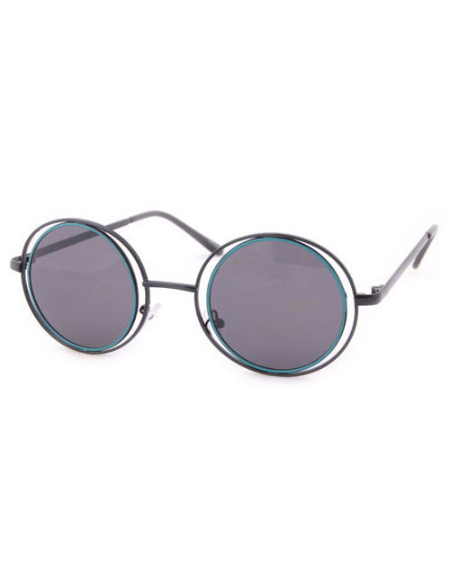 obscura teal circle sunglasses