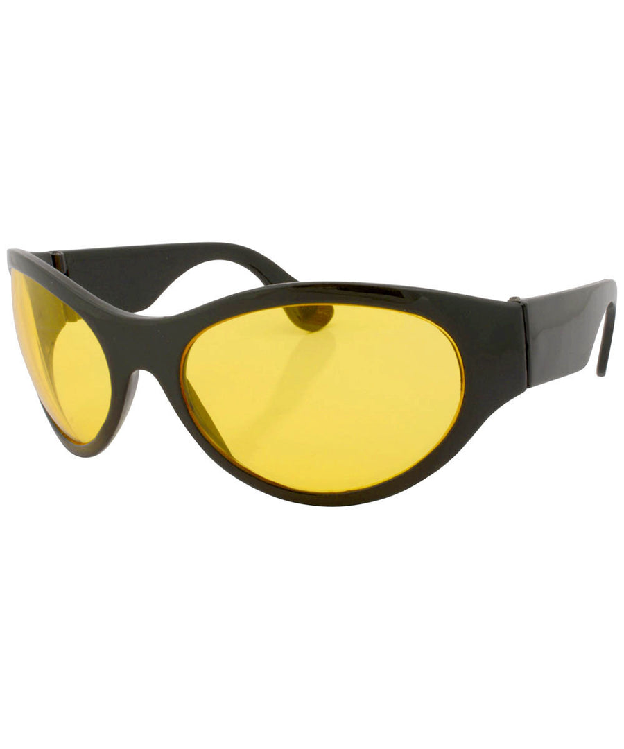 obtain black yellow sunglasses