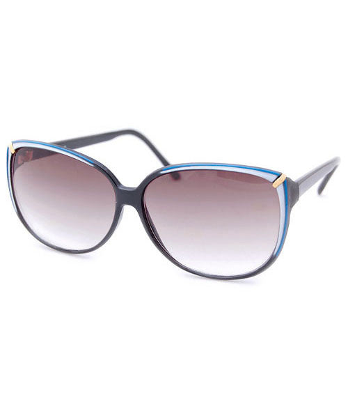 olga black blue sunglasses