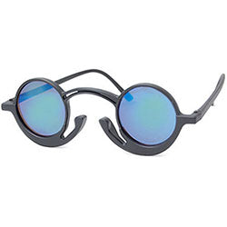orson black aqua sunglasses