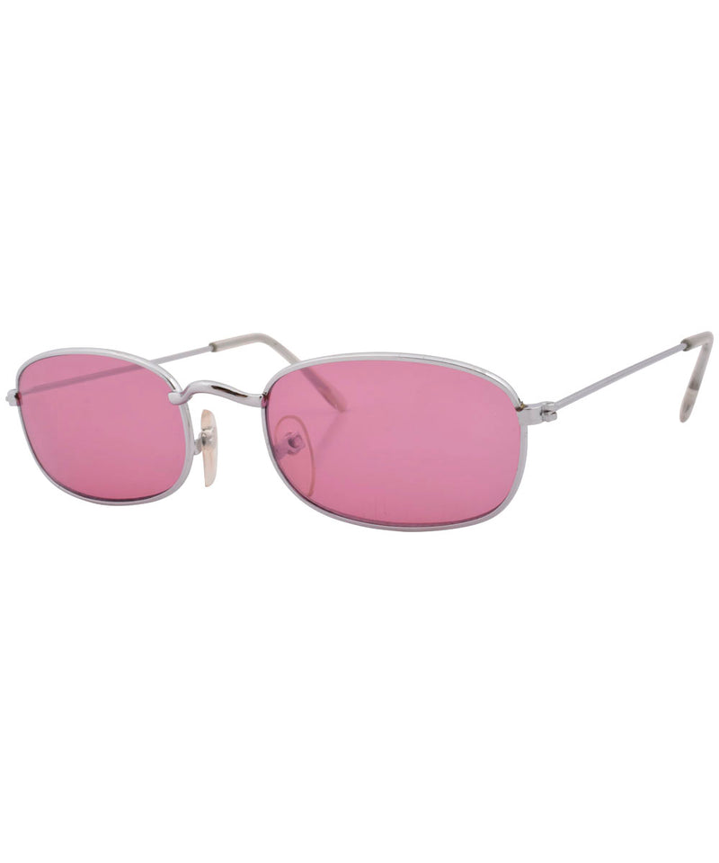 outsider pink silver sunglasses