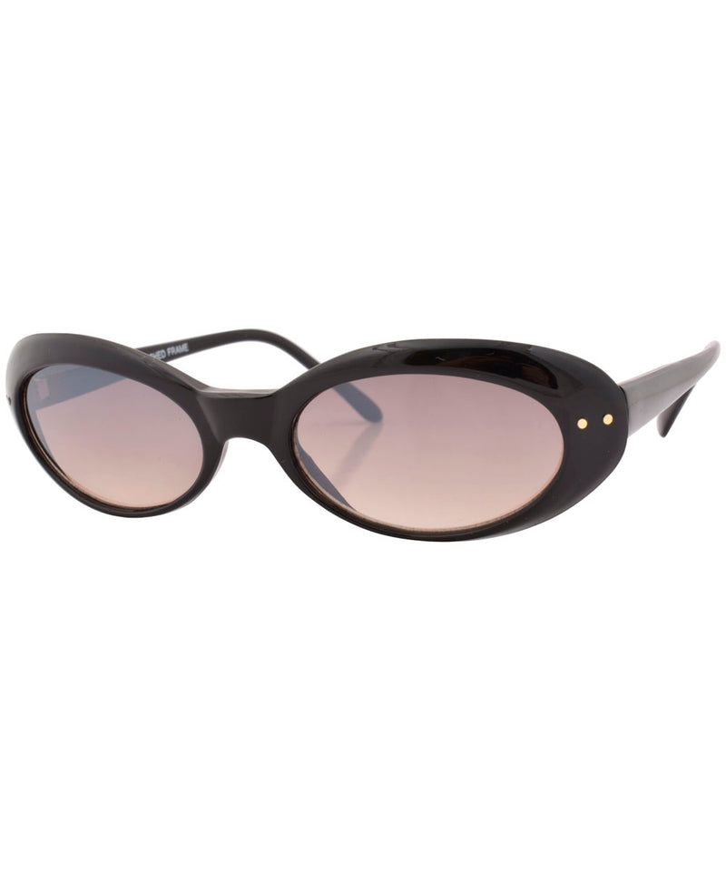 ovaldo black tule sunglasses