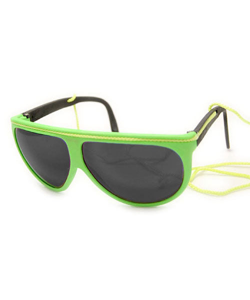 FLUOROPA Green Neon Sunglasses
