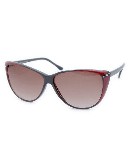 peeka black red sunglasses