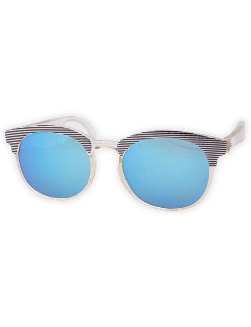 papier crystal silver blue sunglasses
