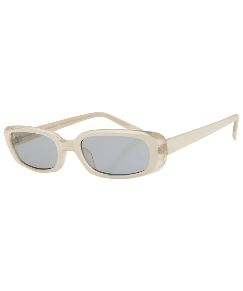 par tease white sunglasses