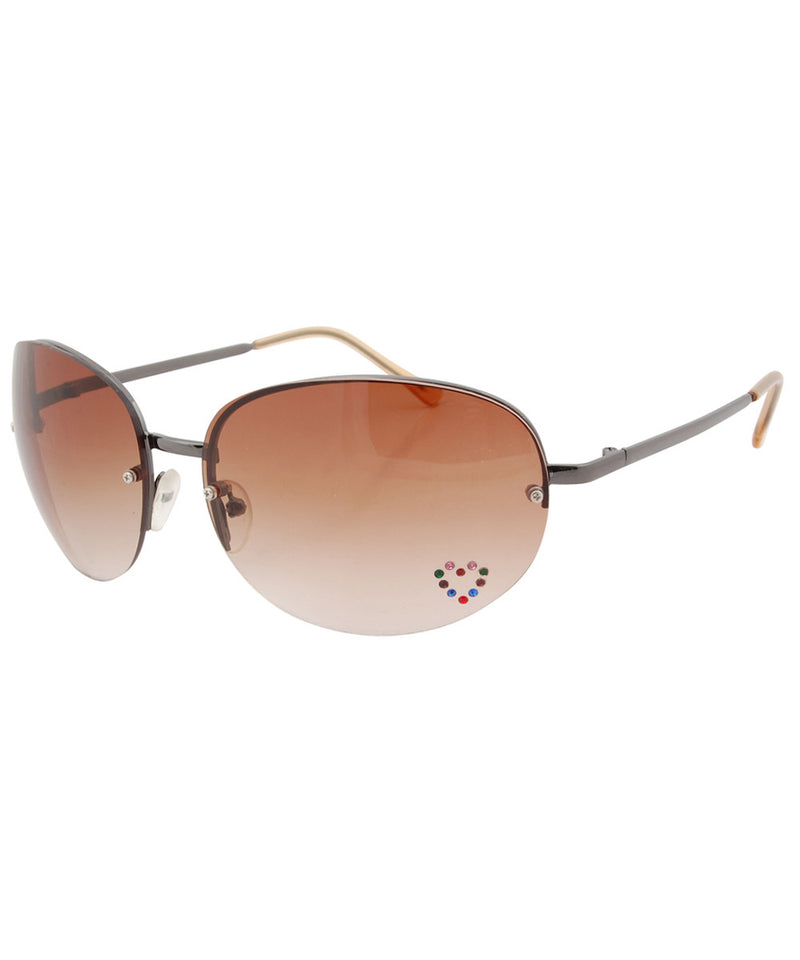paris brown sunglasses
