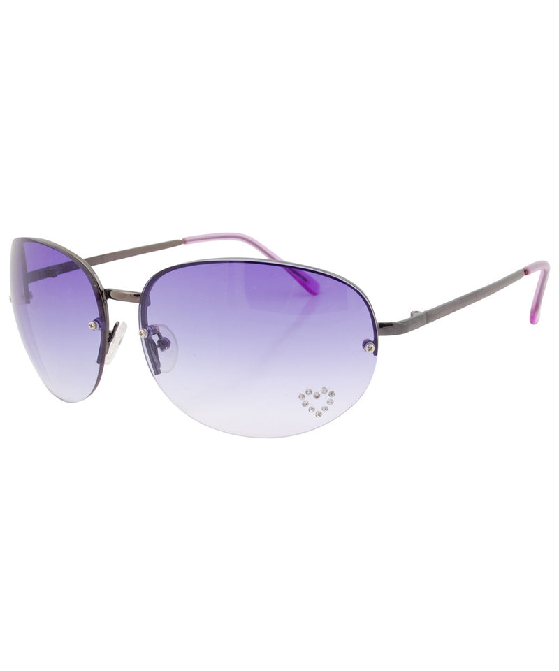 paris purple sunglasses