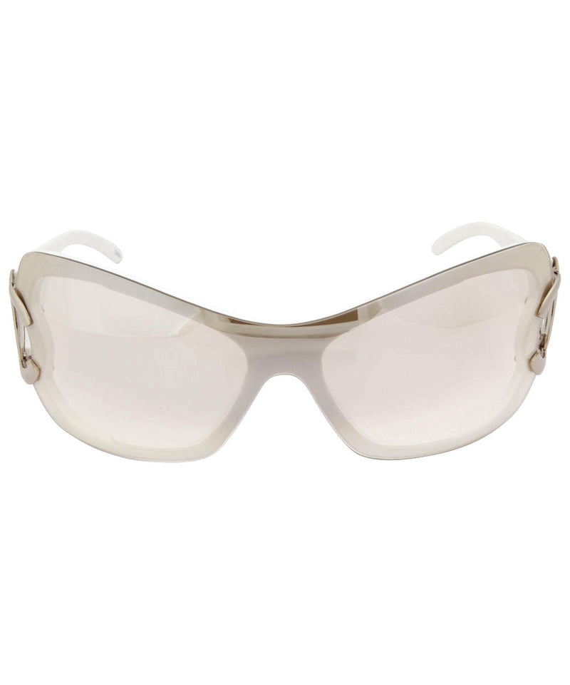 chanchal white flash sunglasses